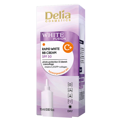 Delia White Fusion C+ Whitening BB Cream 15 ml - Thumbnail