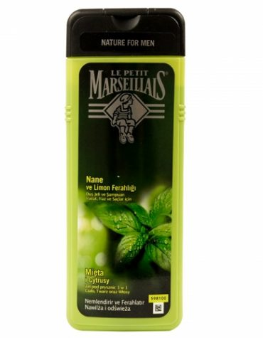 Le Petit Marseillais For Men Nane ve Limon Ferahlığı Duş Jeli ve Şampuan 400ml