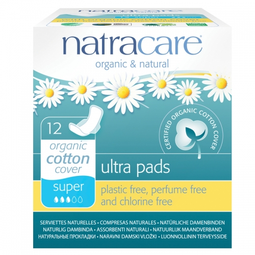 Natracare Organic Cotton Cover Ultra Pads 12 Adet - Super