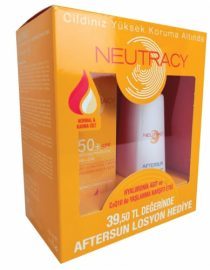 Neutracy Normal ve Karma Cilter İçin SPF50 Su Bazlı Güneş Kremi 70ml + After Sun Losyon 150ml HEDİYE