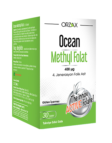 Orzax Ocean Methyl Folat 30 Tablet