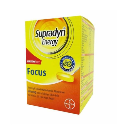 Supradyn Energy Focus 30 Film Kaplı Tablet