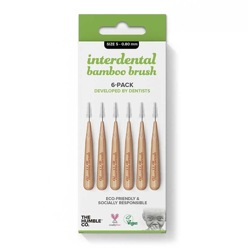 The Humble Co Interdental Bamboo Brush 6-Pack 0 - 0.80 mm