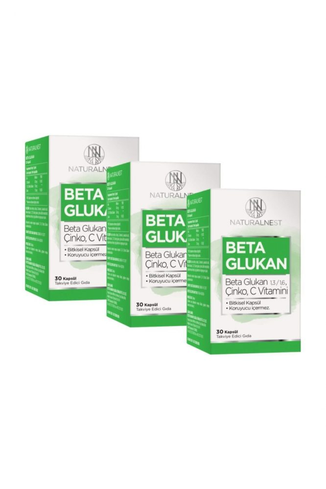 1 3 1 6 beta glukan cinko vitamin c iceren takviye edici gida 30 kapsul 3 kutu 3094 Natural Nest Beta Glukan Çinko Vitamin C İçeren Takviye Gıda 30 Kapsül 3 Kutu Dermologue