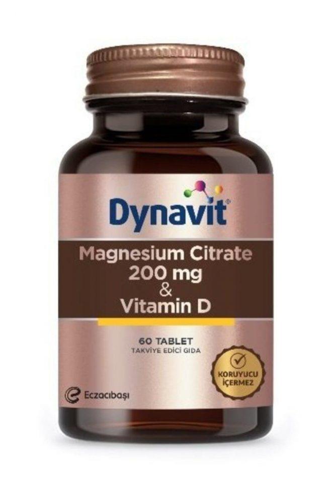 dynavit magnesium citrate 200 mg vitamin d 60 tablet 2168 Dynavit Magnesium Citrate 200 mg & Vitamin D 60 Tablet Dermologue