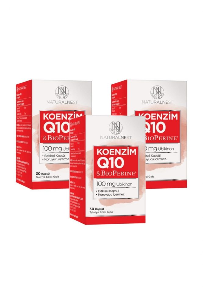 koenzim q10 takviye edici gida 30 kapsul 3 kutu 3175 Natural Nest Koenzim Q10 Takviye Edici Gıda 30 Kapsül 3 Kutu Dermologue