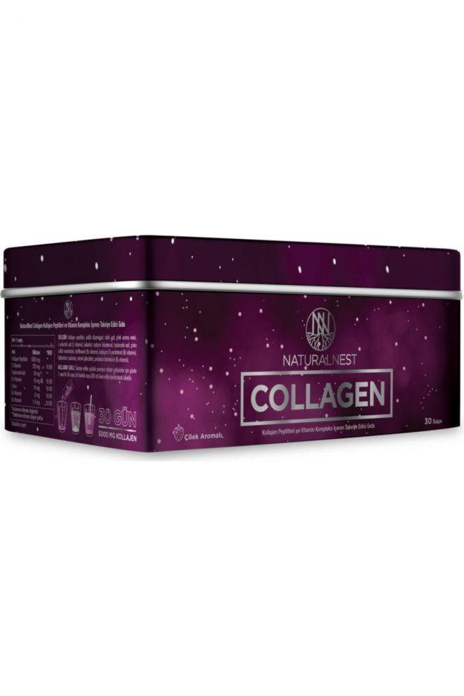 natural nest collagen cilek aromali 30 sase 2038 Natural Nest Collagen Çilek Aromalı 30 Saşe Dermologue