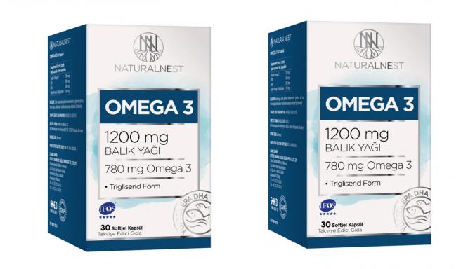 natural nest omega 3 30 kapsul 2 adet 1130 Natural Nest Omega 3 30 Kapsül - 2 Adet Dermologue