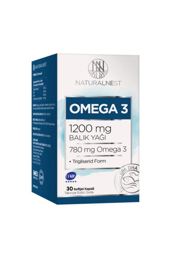 natural nest omega 3 30 kapsul 2861 Natural Nest Omega 3 30 Kapsül Dermologue