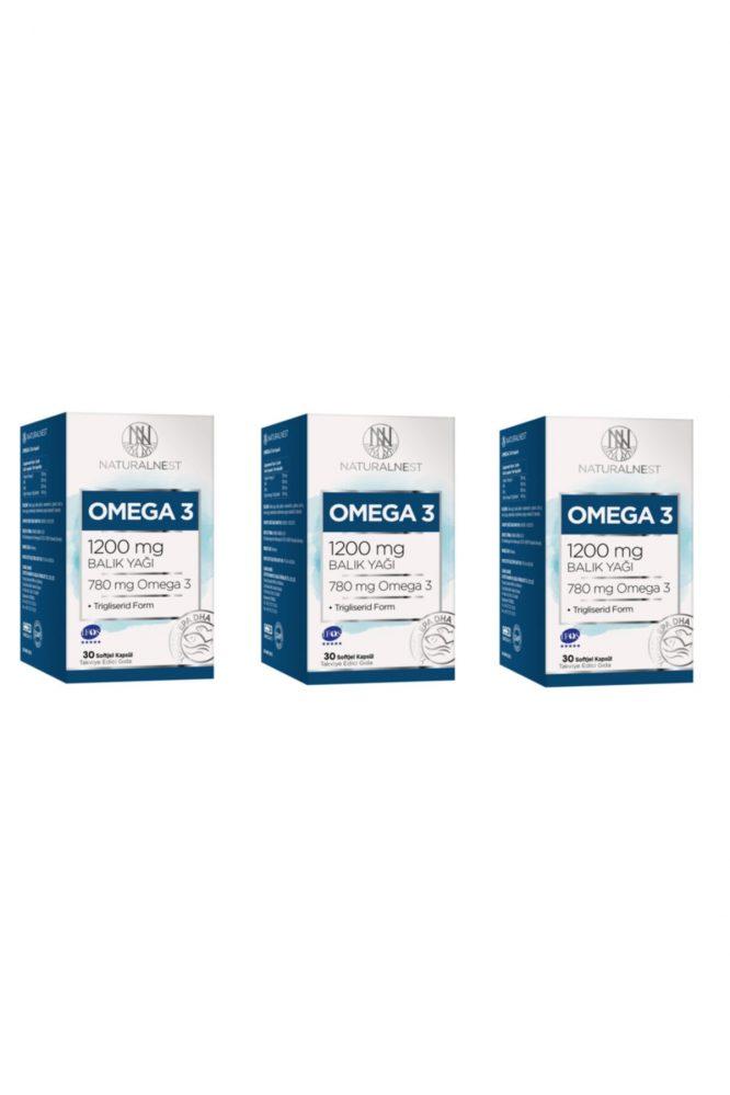 natural nest omega 3 30 kapsul 3 adet 3200 1 Natural Nest Omega 3 30 Kapsül - 3 Adet Dermologue