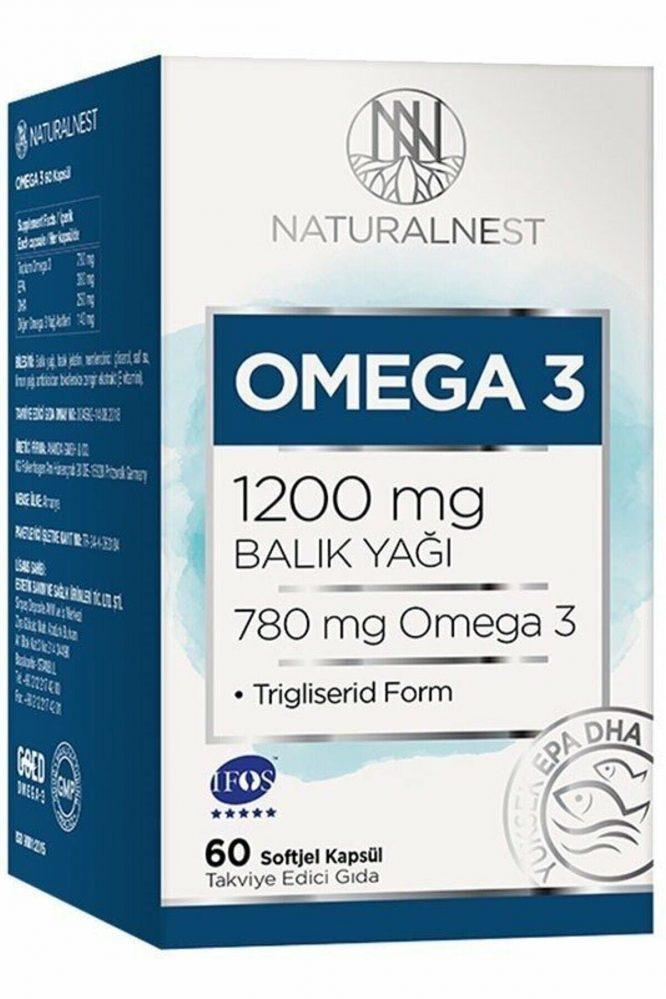 natural nest omega 3 60 kapsul 2055 Natural Nest Omega 3 60 Kapsül Dermologue