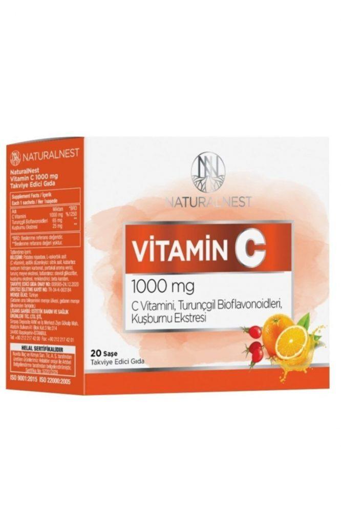 natural nest vitamin c 1000 mg 20 sase 2884 Natural Nest Vitamin C 1000 mg 20 Şase Dermologue