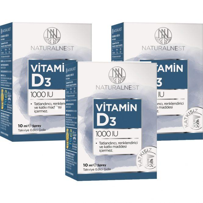 naturalnest vitamin d3 1000 iu 10 ml sprey 3 kutu 3110 Naturalnest Vitamin D3 1000 Iu 10 ml Sprey 3 Kutu Dermologue