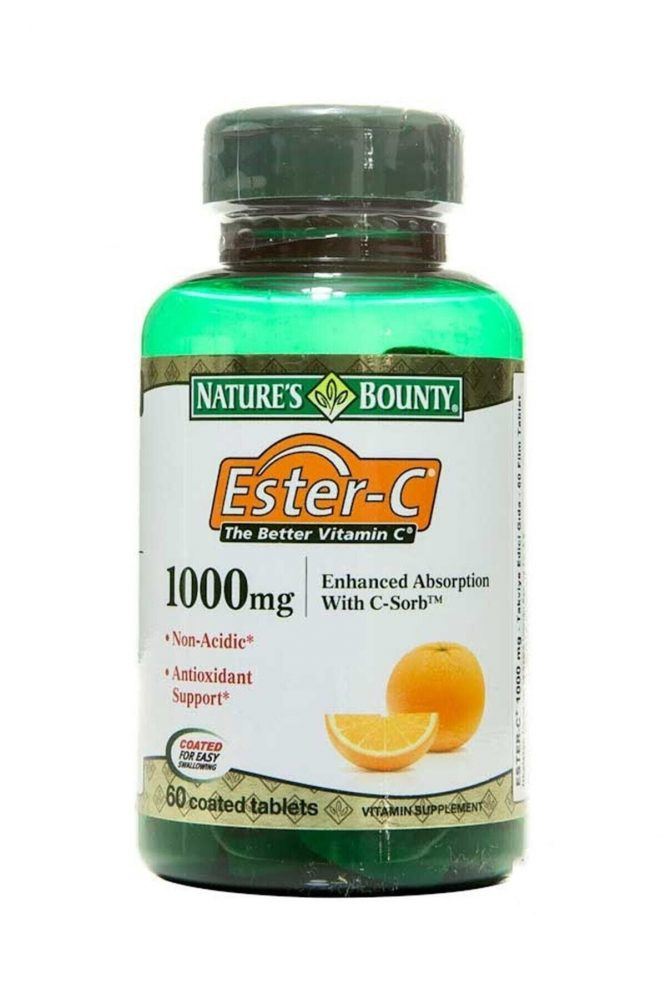 nature s bounty ester c 1000 mg 60 tablet 2874 Nature's Bounty Ester-C 1000 mg 60 Tablet Dermologue