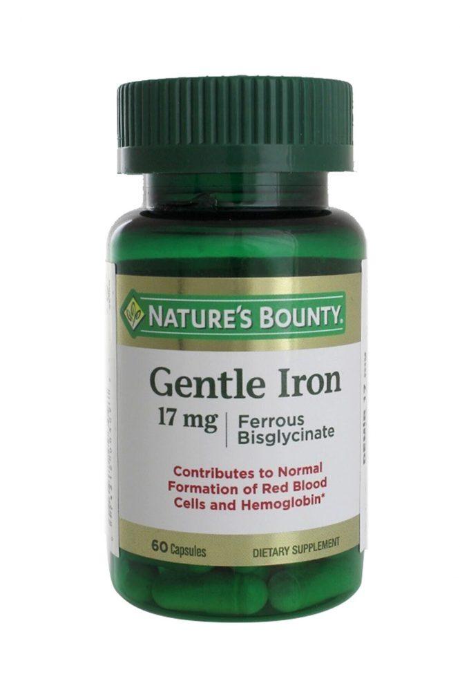 nature s bounty gentle iron 17 mg 60 kapsul 2876 Nature's Bounty Gentle Iron 17 mg 60 Kapsül Dermologue