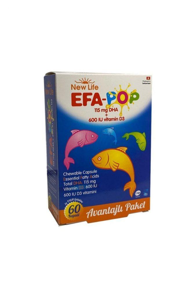 new life efa pop 60 kapsul 2829 New Life Efa-Pop 60 Kapsül Dermologue
