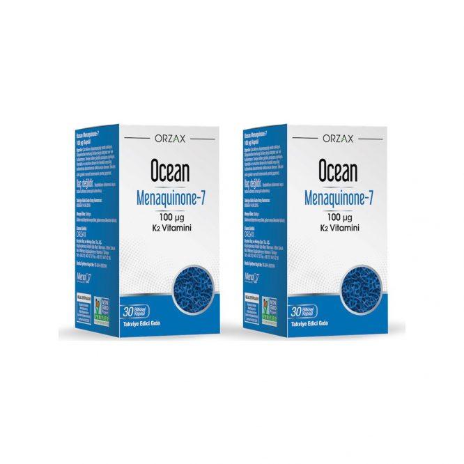 orzax ocean mk 7 100 mcg k2 vitamini 30 kapsul x 2 adet 3254 Orzax Ocean Mk-7 100 Mcg K2 Vitamini 30 Kapsül x 2 Adet Dermologue