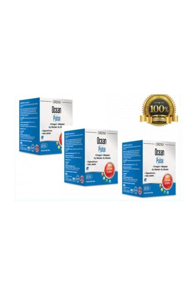 orzax ocean pulse omega 3 30 kapsul 3 lu paket 2 Orzax Ocean Pulse Omega 3 30 Kapsül 3'lü Paket Dermologue