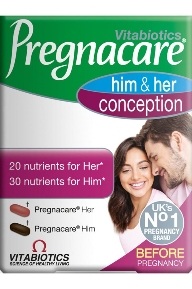 pregnacare him her conception 2 x 30 tablet 2132 Pregnacare Him & Her Conception 2 x 30 Tablet Dermologue