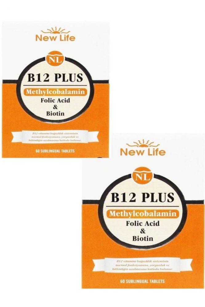 b12 plus dilalti 60 tablet 2 li paket 3852 new life B12 Plus Dilaltı 60 Tablet 2'li Paket Dermologue