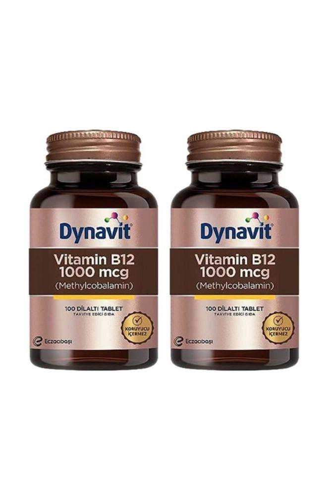 dynavit vitamin b12 1000 mcg dilalti 100 tablet x 2 adet 85 Dynavit Vitamin B12 1000 mcg Dilaltı 100 Tablet x 2 Adet Dermologue