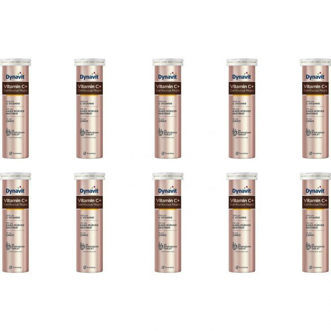 eczacibasi dynavit vitamin c sambucus nigra 20 efervesan tablet 10 lu paket 4271 Eczacıbaşı Dynavit Vitamin C+ Sambucus Nigra 20 Efervesan Tablet 10'lu Paket Dermologue