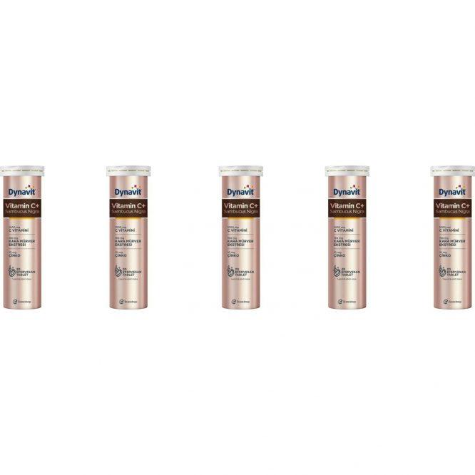 eczacibasi dynavit vitamin c sambucus nigra 20 efervesan tablet 5 li paket 4237 Eczacıbaşı Dynavit Vitamin C+ Sambucus Nigra 20 Efervesan Tablet 5'li Paket Dermologue