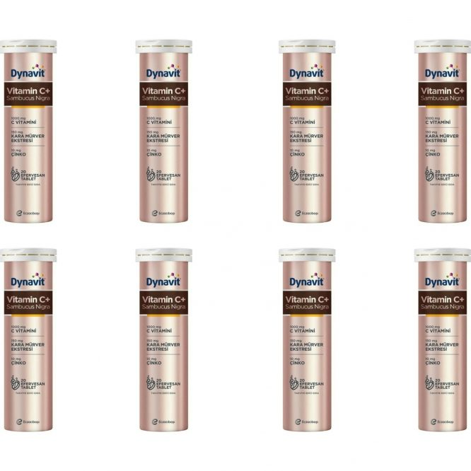 eczacibasi dynavit vitamin c sambucus nigra 20 efervesan tablet 8 li paket 4269 Eczacıbaşı Dynavit Vitamin C+ Sambucus Nigra 20 Efervesan Tablet 8'li Paket Dermologue