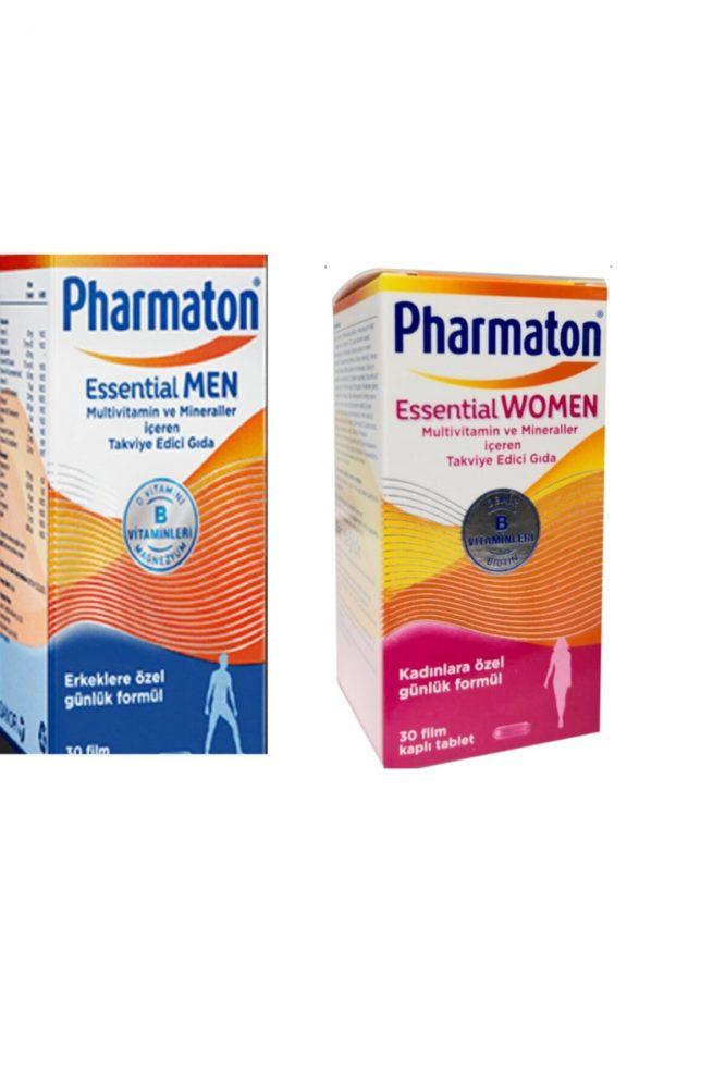 essential man woman 4613 Pharmaton Essential Man & Women 30 Kapsül Kofre Dermologue