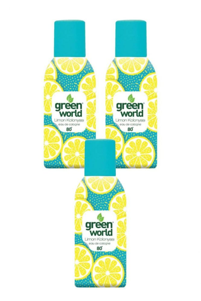 limon kolonyasi sprey 80 derece 150 ml 3 adet 4511 Green World Limon Kolonyası Sprey 80 Derece 150 Ml 3 Adet Dermologue
