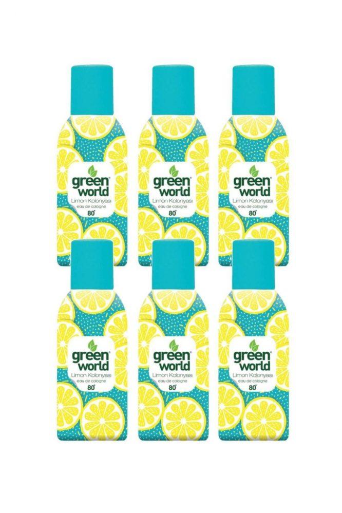 limon kolonyasi sprey 80 derece 150 ml 6 adet 4522 Green World Limon Kolonyası Sprey 80 Derece 150 Ml 6 Adet Dermologue