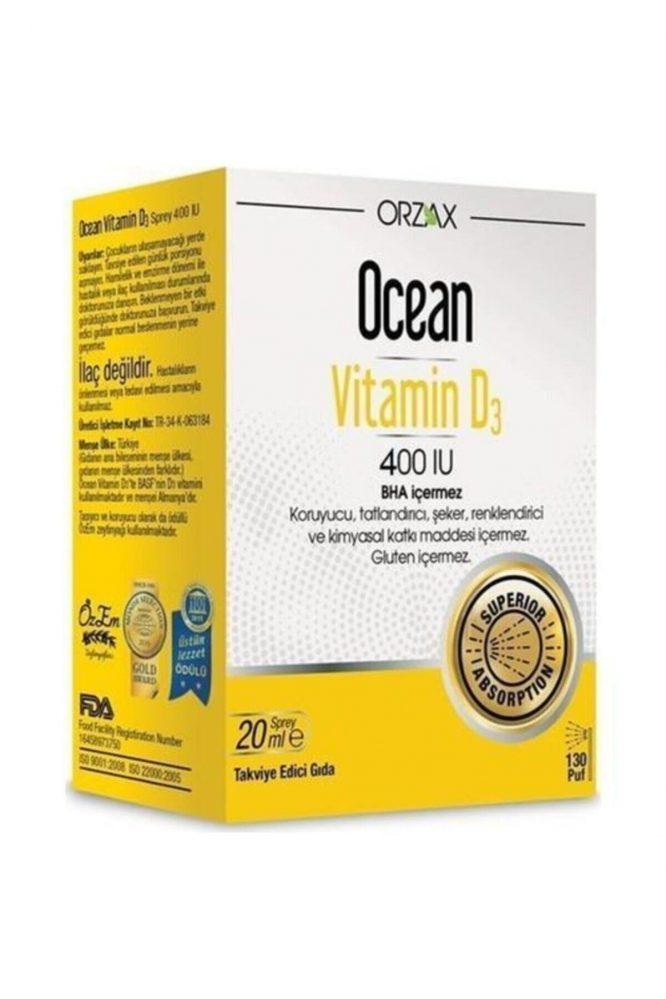 ocean vitamin d3 400 iu oral sprey 20 ml 4826 Ocean Vitamin D3 400 IU Oral Sprey 20 ml Dermologue